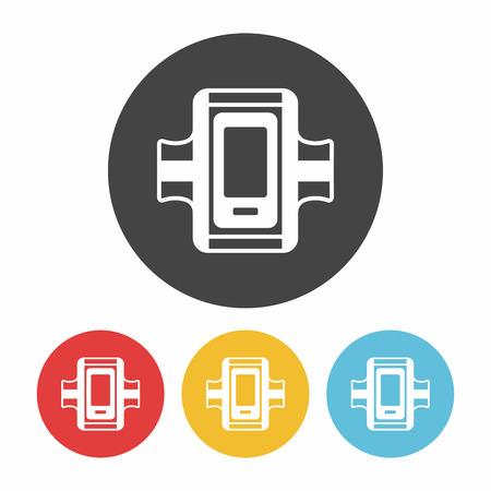 armband: Sports armband icon Illustration