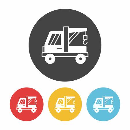 breakdown truck: Tow truck icon