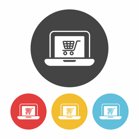 e commerce icon: online shopping icon Illustration