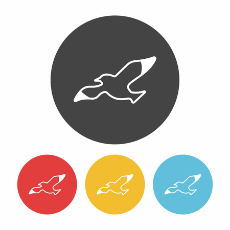 seabird: Seagull icon Illustration