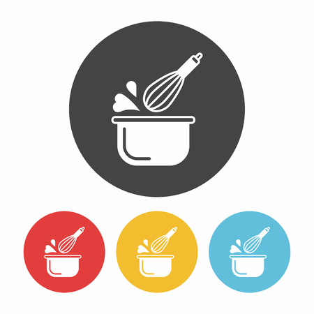 wire whisk: kitchenware beater icon Illustration