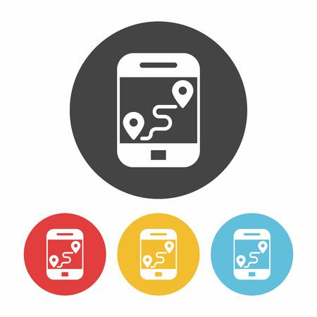 cellphone icon: cellphone map icon