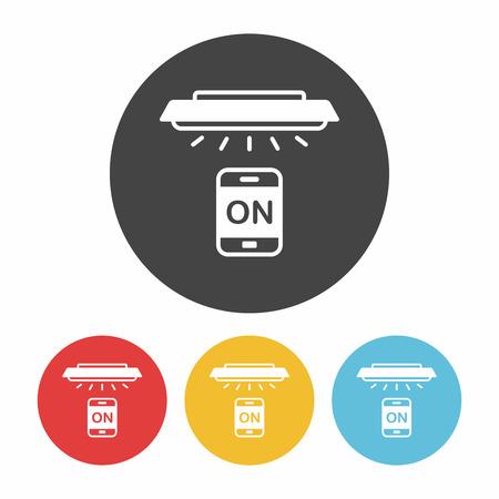 remote: Mobile wireless remote control icon