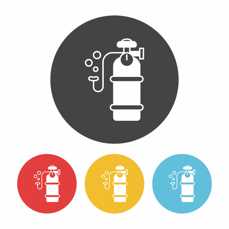 compressed gas cylinder: Oxygen cylinder icon