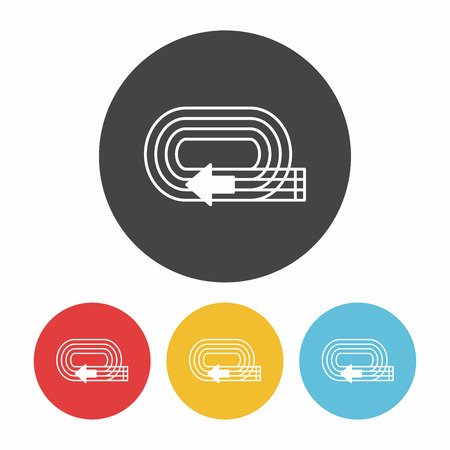 Playground track icon Illustration
