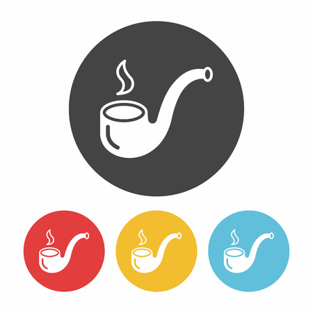 tobacco pipe: Tobacco pipe icon Illustration