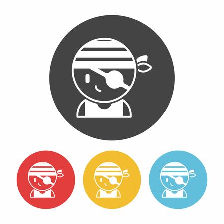 white patches: pirate icon