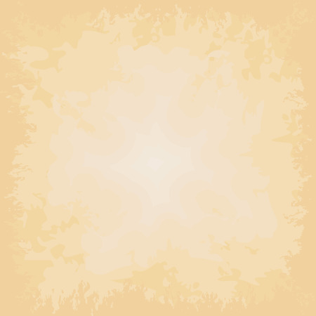 yellowing: Beige vector background, grungy old paper.
