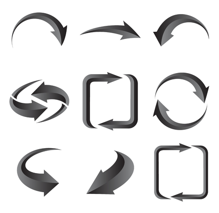 range of motion: Set of arrows. Illustration for design on white background.illustration