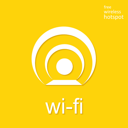 remote access: Wireless and wifi icon or sign for remote internet access.  symbol.