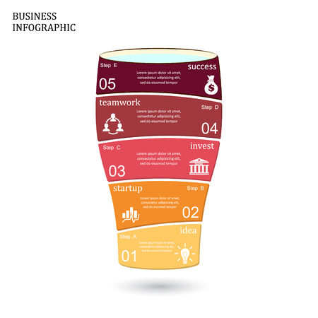 logo handshake: Template for glass infographic, diagram, graph, presentation, chart. Business startup idea concept with 4 options, parts, steps or processes. Illustration