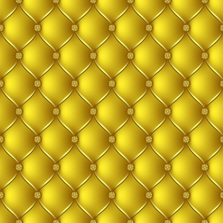 button tufted: Vector abstract upholstery gold background. Can be used in cover design, book design, website background, CD cover, advertising. Illustration