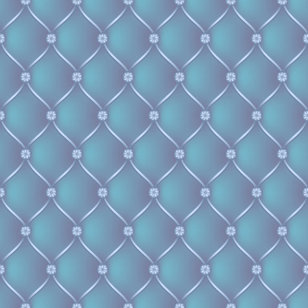 button tufted: Vector abstract upholstery blue background. Can be used in cover design, book design, website background, CD cover, advertising. Illustration