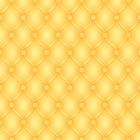 button tufted: Vector abstract upholstery yellow background. Can be used in cover design, book design, website background, CD cover, advertising.