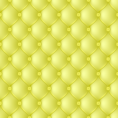 button tufted: Vector abstract upholstery yellow background. Can be used in cover design, book design, website background, CD cover, advertising