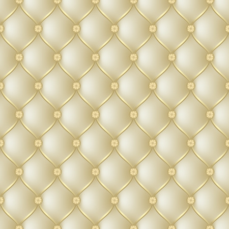 button tufted: Vector abstract upholstery  gold background. Can be used in cover design, book design, website background, CD cover, advertising