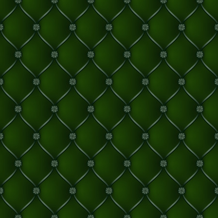 button tufted: Vector abstract upholstery dark green background. Can be used in cover design, book design, website background, CD cover, advertising