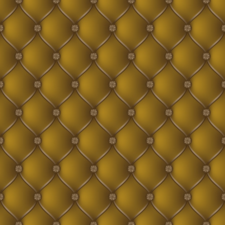 button tufted: Vector abstract upholstery dark gold background. Can be used in cover design, book design, website background, CD cover, advertising.