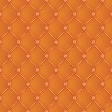 button tufted: Vector abstract upholstery dark orange background. Can be used in cover design, book design, website background, CD cover, advertising.