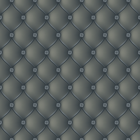 button tufted: Vector abstract upholstery dark gray background. Can be used in cover design, book design, website background, CD cover, advertising. Illustration