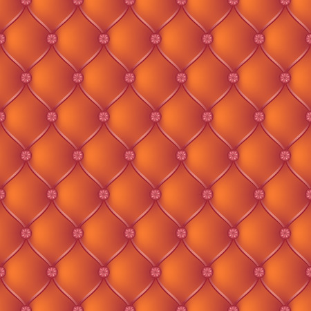 button tufted: Vector abstract upholstery orange background. Can be used in cover design, book design, website background, CD cover, advertising. Illustration