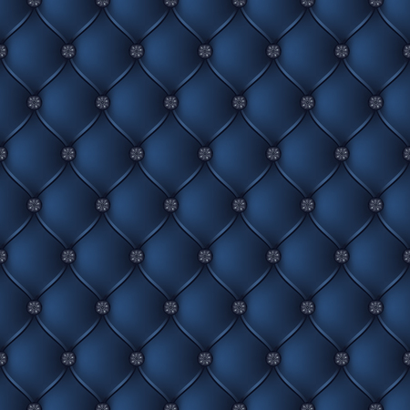 button tufted: Vector abstract upholstery dark blue background. Can be used in cover design, book design, website background, CD cover, advertising.
