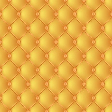 button tufted: Vector abstract upholstery  gold background. Can be used in cover design, book design, website background, CD cover, advertising.