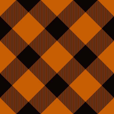 Halloween Tartan Seamless Pattern. Trendy Illustration for Wallpapers.