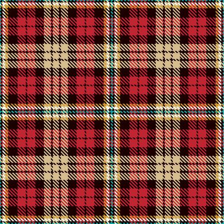 Plaid Tartan Seamless Pattern Background. Ornamento escocés tradicional. Seamless Tartan Tiles. Ilustración de moda del vector para fondos de pantalla.
