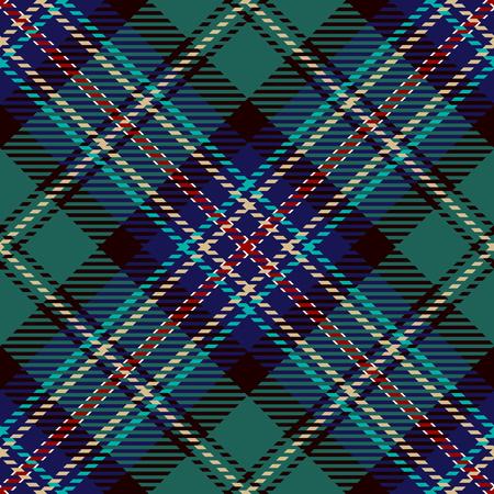 Tartan Seamless Pattern Background. Red, Blue, Black and Green Plaid, Tartan Flannel Shirt Patterns. Trendy Tiles Vector Illustration for Wallpapers Illustration