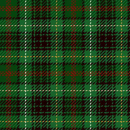 Seamless Pattern Background. Green, Red, Black, Yellow  and White Plaid, Tartan Flannel Shirt Patterns. Trendy Tiles Vector Illustration for Wallpapers.