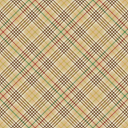 Tartan Seamless Pattern Background. Red, Brown, Green, Gold and  White Plaid, Tartan Flannel Shirt Patterns. Trendy Tiles Vector Illustration for Wallpapers.