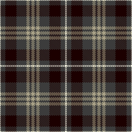 Tartan Seamless Pattern Background. Gray, Black, White  and  Camel Beige  Plaid, Tartan Flannel Shirt Patterns. Trendy Tiles Vector Illustration for Wallpapers.