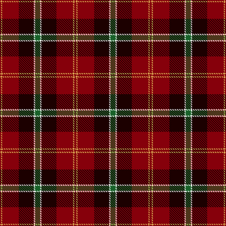 Elegant  Pattern Background. Red, Black, Yellow, Green  and  White Plaid, Tartan Flannel Shirt Patterns. Trendy Tiles Vector Illustration for Wallpapers. Ilustracja