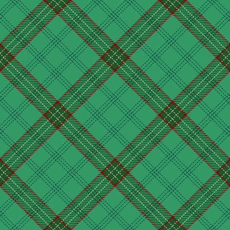Decorative Tartan Seamless Pattern Background. Red, Green  and  White Plaid, Tartan Flannel Shirt Patterns. Trendy Tiles Vector Illustration for Wallpapers. Illustration