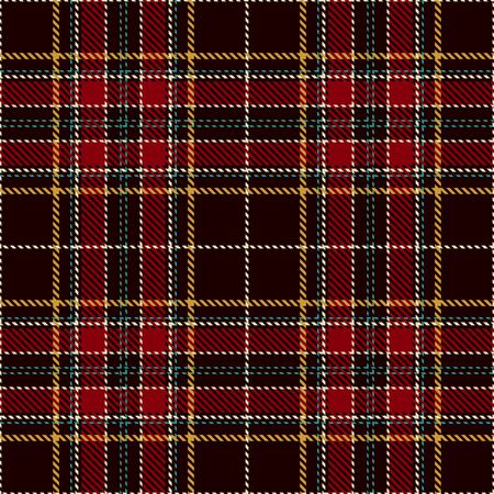 Pattern Background. Red, Black, Green, Gold and  White Plaid, Tartan Flannel Shirt Patterns. Trendy Tiles Vector Illustration for Wallpapers.