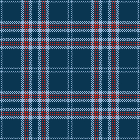 Elegant checkered Seamless Pattern Background. Red, Blue  and Gold  Plaid, Tartan Flannel Shirt Patterns. Trendy Tiles Vector Illustration for Wallpapers. Ilustração