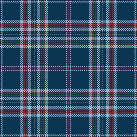 Elegante cuadros sin fisuras de fondo. Tela escocesa roja, azul y dorada, patrones de franela de tartán. Ilustración de moda mosaico de vectores para fondos de pantalla. Ilustración de vector