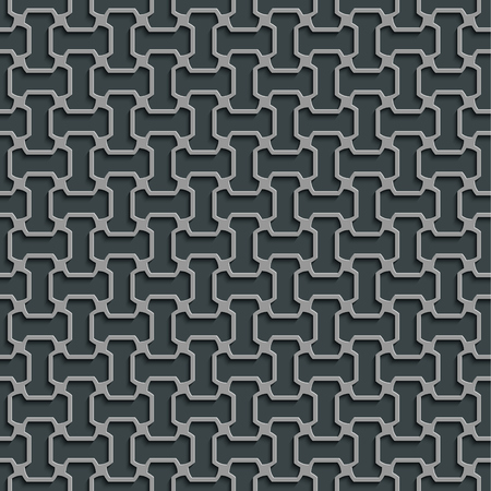 Seamless Abstract Geometric Pattern 3d Grey Tile Surface Frame Border Wallpaper Elegant Repeating