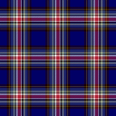 Tartan Seamless Pattern Background. Red, Black, Blue  and  White Plaid, Tartan Flannel Shirt Patterns. Trendy Tiles Vector Illustration for Wallpapers. Illustration