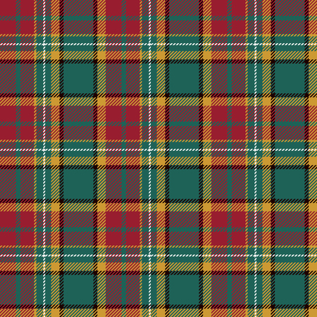 celtic: Tartan Seamless Pattern Background. Red, Black, Green, Yellow  and  White Plaid, Tartan Flannel Shirt Patterns. Trendy Tiles Vector Illustration for Wallpapers.
