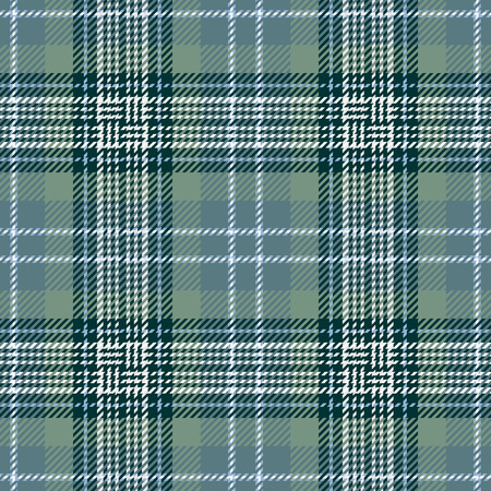 celtic: Tartan Seamless Pattern Background. Green, Black, Blue  and  White Plaid, Tartan Flannel Shirt Patterns. Trendy Tiles Vector Illustration for Wallpapers.