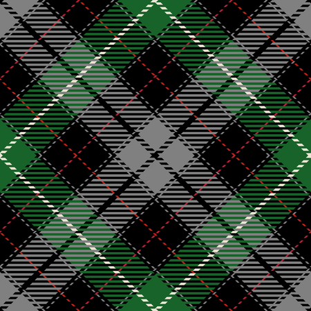 Tartan Seamless Pattern Background. Red, Black, Gray, Green  and  White Plaid, Tartan Flannel Shirt Patterns. Trendy Tiles Vector Illustration for Wallpapers.