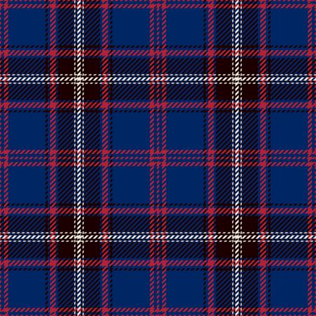 Tartan-nahtloser Muster-Hintergrund. Rot, Schwarz, Blau und Weiß Plaid, Tartan Flanell Shirt Patterns. Trendige Fliesen-Vektor-Illustration für Tapeten. Standard-Bild - 79299824