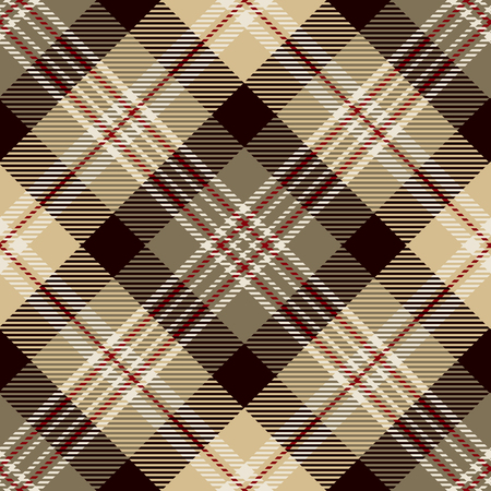 Tartan Seamless Pattern Background. Red, Brown, Black, Beige and  White Plaid, Tartan Flannel Shirt Patterns. Trendy Tiles Vector Illustration for Wallpapers.