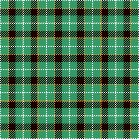 celtic: Tartan Seamless Pattern Background. Green, Yellow,  Black  and  White Plaid, Tartan Flannel Shirt Patterns. Trendy Tiles Vector Illustration for Wallpapers. Illustration