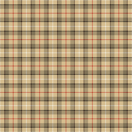 celtic: Tartan Seamless Pattern Background. Camel Beige, Red,  Black  and  White Plaid, Tartan Flannel Shirt Patterns. Trendy Tiles Vector Illustration for Wallpapers. Illustration