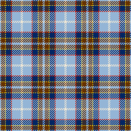 Tartan Seamless Pattern Background. Blue, Red, Yellow   and  White Plaid, Tartan Flannel Shirt Patterns. Trendy Tiles Vector Illustration for Wallpapers. Illustration