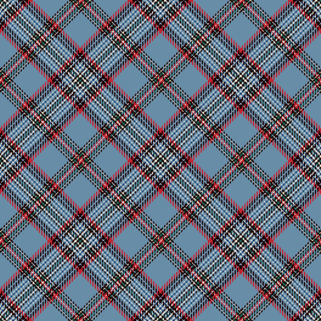 Tartan Seamless Pattern Background. Red, Black, Blue  and  White Plaid, Tartan Flannel Shirt Patterns. Trendy Tiles Vector Illustration for Wallpapers Illustration
