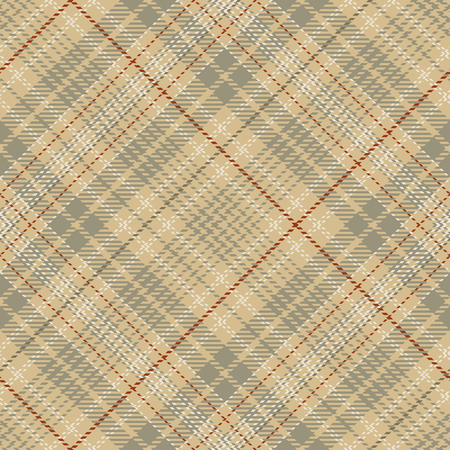 Tartan Seamless Pattern Background. Red, Brown, Beige  and  White Plaid, Tartan Flannel Shirt Patterns. Trendy Tiles Vector Illustration for Wallpapers.